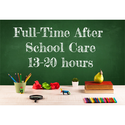 Full Time After School Care (13-20hrs)