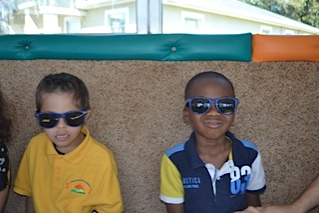 LEAPS students with sunglasses
