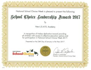 School Choice Leadership award 2017