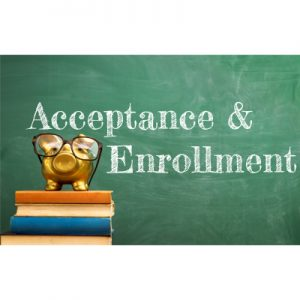Acceotance and Enrollment chalkboard image