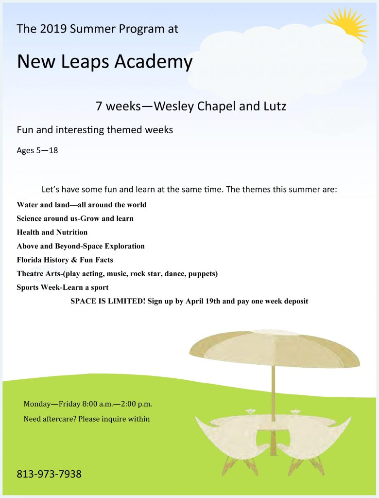 New LEAPS Summer Program Flyer Image